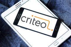 Criteo reciblant le logo de société Photo stock