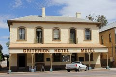 Criterion Hotel Motel in the Old Ghan village of Quorn, Western Australia Stock Image