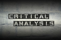 Critical analysis gr Royalty Free Stock Image