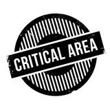 Critical Area rubber stamp Royalty Free Stock Photo