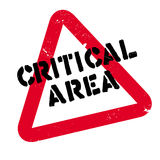 Critical Area rubber stamp Stock Images