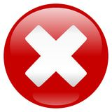 Critical Error Icon Royalty Free Stock Photography