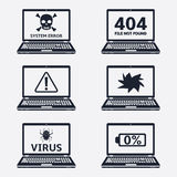 Critical error icons Stock Photos