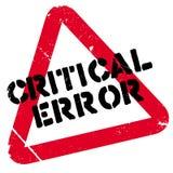 Critical error stamp Stock Photo