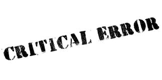 Critical error stamp Royalty Free Stock Photography