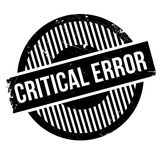 Critical error stamp Royalty Free Stock Image