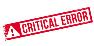 Critical error stamp Stock Image