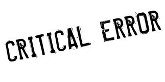 Critical error stamp Stock Photography