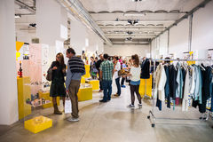 So Critical So Fashion exhibition in Milan on September 20, 2013. MILAN, ITALY - SEPTEMBER 20: So Critical So Fashion exhibition in Milan on September, 20 2013 royalty free stock photos