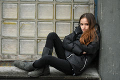 Critical looking teenage girl Stock Images