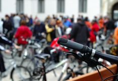 Critical mass. Is an event held once a month around the world royalty free stock photos