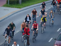 Critical Mass, Lublin, Poland Royalty Free Stock Image