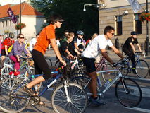 Critical Mass, Lublin, Poland Royalty Free Stock Photos