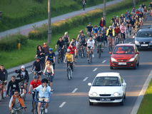 Critical Mass, Lublin, Poland Stock Photo