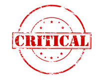 Critical. Rubber stamp with word critical inside,  illustration Stock Image