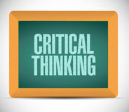 Critical thinking board sign illustration Stock Photography
