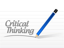 Critical thinking message sign. Illustration design over a white background royalty free stock images