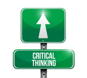 Critical thinking street sign illustration Royalty Free Stock Photography