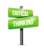 Critical thinking street sign illustration Stock Photo