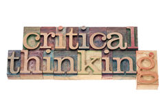Critical thinking in wood type Royalty Free Stock Image