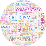 CRITICISM. Stock Photo