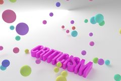 Criticism, business conceptual colorful 3D rendered words. Cgi, artwork, alphabet & text. Criticism, business conceptual colorful 3D rendered words. Decorative royalty free illustration