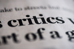 Critics Stock Photography