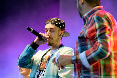 Critika & Saik (faixa espanhola do hip-hop) no festival do PNF de primavera Imagens de Stock