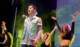Critika y Saik (banda española del hip-hop) en el festival del estallido de Primavera Foto de archivo