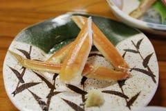 critique despiadadamente la comida del palillo, adorne la comida del japonés del palillo del cangrejo Imagen de archivo libre de regalías