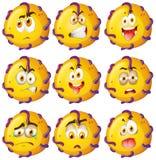Critter amarillo con expresiones faciales Fotografía de archivo libre de regalías