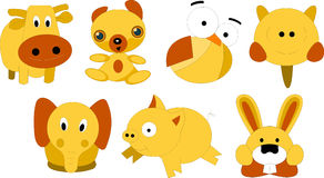 Critters. Different kinds of creatures, on white background Stock Image