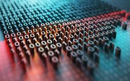 Crittografia di codice binario illustrazione vettoriale
