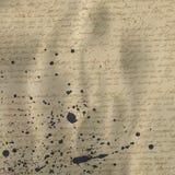 Écriture abstraite sur le vieux papier Photo stock