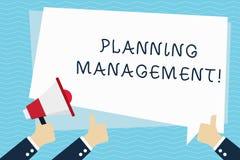 ?criture conceptuelle de main montrant la gestion de planification Acte des textes de photo d'affaires ou processus de faire ou d illustration libre de droits