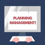 ?criture conceptuelle de main montrant la gestion de planification Acte des textes de photo d'affaires ou processus de faire ou d illustration de vecteur
