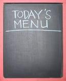 Écriture d'aujourd'hui de menu Photographie stock