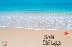 Écriture de San Diego Image libre de droits