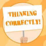 ?criture des textes d'?criture pensant correctement Le principe de signification de concept que vous pensez sont raisonnable et m illustration de vecteur