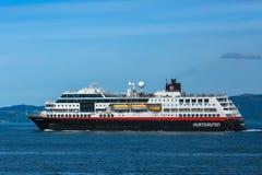 Criuse ship Hurtigruten, Norway Royalty Free Stock Images