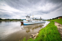 Criuse ship on the Vistula river Stock Photo