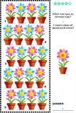 Crivo visual com fileiras de flores em pasta Imagens de Stock Royalty Free