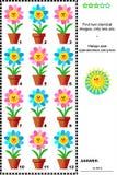 Crivo visual com flores em pasta Imagens de Stock Royalty Free