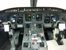 CRJ 900 Cockpit Royalty Free Stock Photo