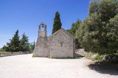 Crkva Sv. Nikole Putnika, Marjan hill, stone chapel. City of Split, Dalmatia, Croatia Royalty Free Stock Images