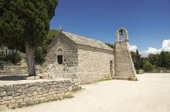 Crkva Sv. Nikole Putnika, Marjan hill, stone chapel. City of Split, Dalmatia, Croatia Stock Photos