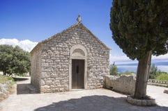 Crkva Sv. Nikole Putnika, Marjan hill, stone chapel. City of Split, Dalmatia, Croatia Stock Images