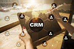 CRM Διοικητική έννοια σχέσης πελατών Εξυπηρέτηση πελατών και σχέση Στοκ Φωτογραφίες