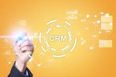CRM Διοικητική έννοια σχέσης πελατών Εξυπηρέτηση πελατών και σχέση Στοκ φωτογραφίες με δικαίωμα ελεύθερης χρήσης