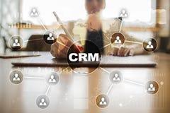 CRM Διοικητική έννοια σχέσης πελατών Εξυπηρέτηση πελατών και σχέση Στοκ φωτογραφία με δικαίωμα ελεύθερης χρήσης